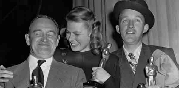 Oscar winners Barry Fitzgerald, Ingrid Bergman and Bing Crosby