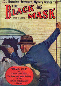 The Nov 1924 edition of Black Mask magazine, containing The Golden Horseshoe by Dashiell Hammett