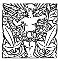 A tiny icon of a cherub