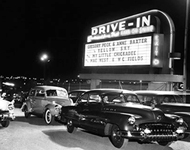 photo of a 1950s drive-in