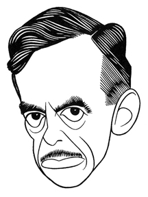 Caricature of Eugene O'Neill