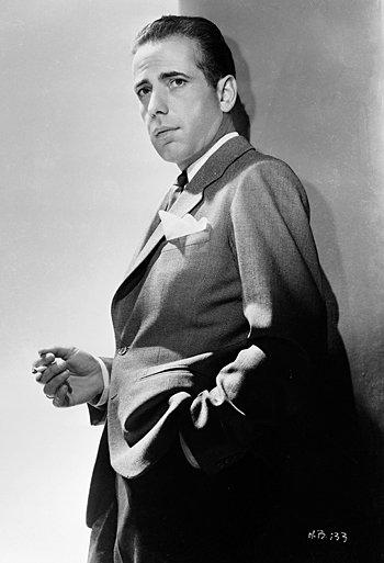 A photograph of Humphrey Bogart