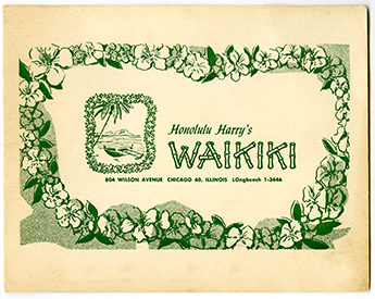 The cover of the Honolulu Harry's Waikiki photo folder