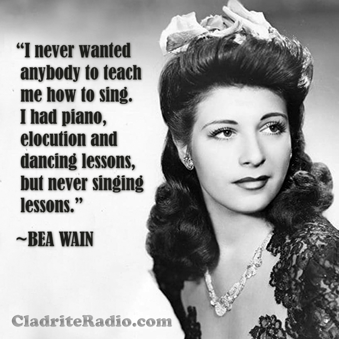 Bea Wain quote