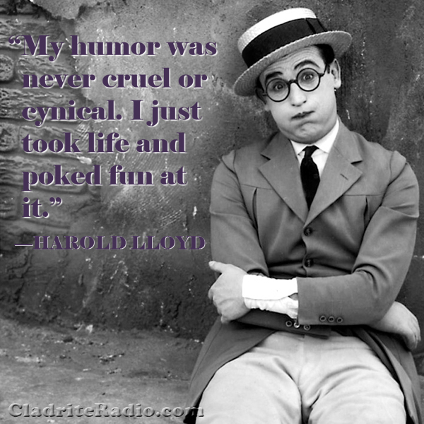 Harold Lloyd quote