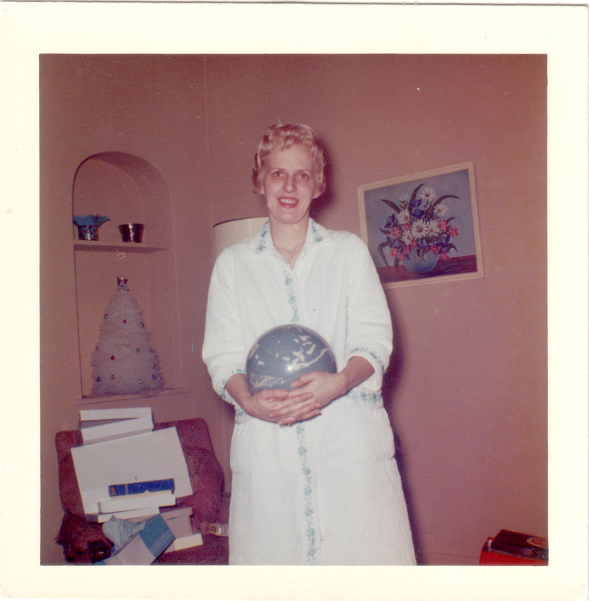 Mom with her new bowling ball