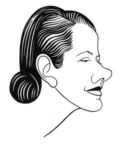 Caricature of Lynn Fontanne