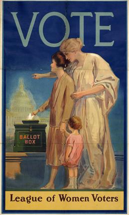 vintage League of Women Voters poster