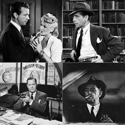 Dick Powell, Humphrey Bogart, Robert Mitchum, Robert Montgomery