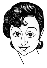 Caricature of Molly Picon