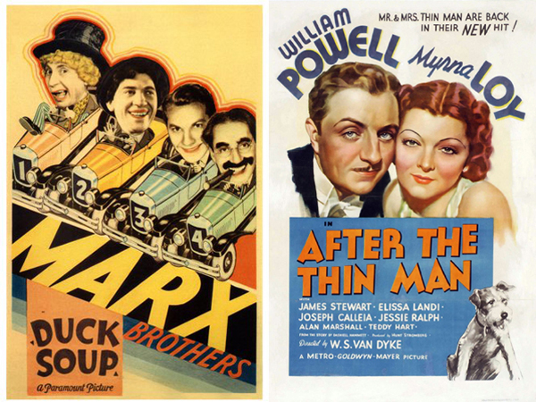 New Year's Eve -- Duck Soup and After the Thin Man posters