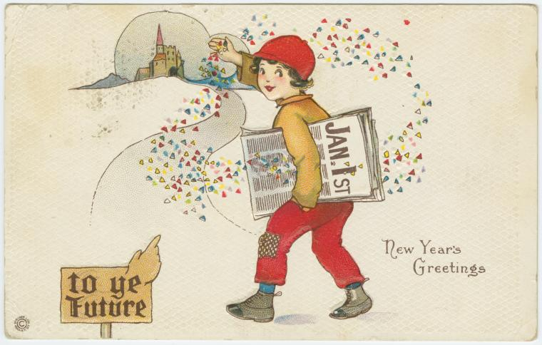 A vintage New Year's postcard