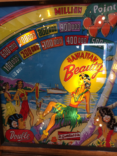 Vintage Pinball Machines: Hawaiian Beauty--1954
