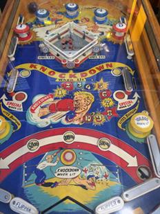 Vintage Pinball Machines: Knockout--1950