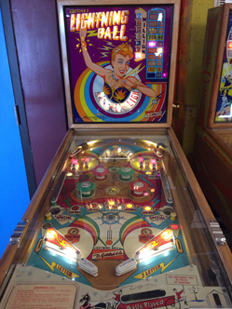 Vintage Pinball Machines: Lightning Ball--1959