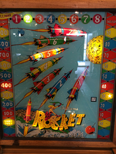 Vintage Pinball Machines: Rocket--1959