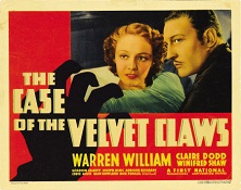 movie poster for The Case of the Velvet Claws