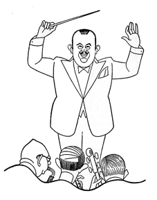 Caricature of Paul Whiteman