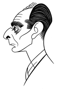 Caricature of Ring Lardner