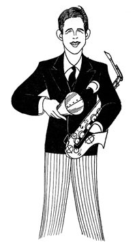 Caricature of Rudy Vallee