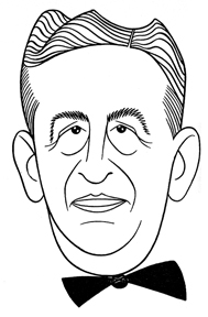 Caricature of Sime Silverman