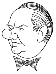 Caricature of W. C. Fields