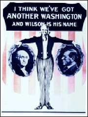 Woodrow Wilson campaign poster