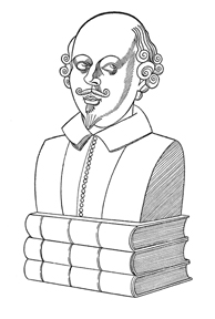 Caricature of William Shakespeare